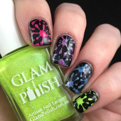Rainbow Nails Using Glam Polish Truly Outrageous Collection - Polish and Paws