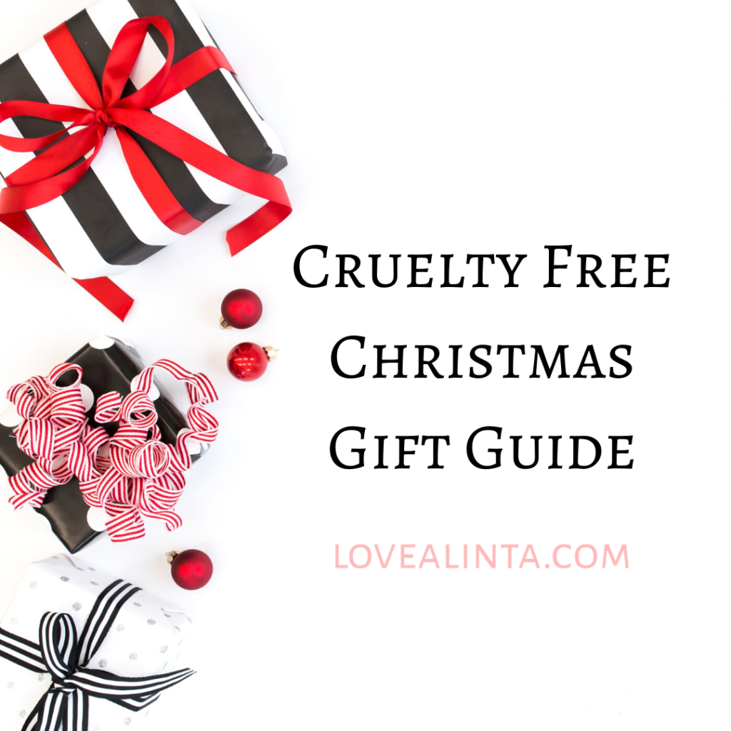 Cruelty free Christmas gift guide - Love Alinta